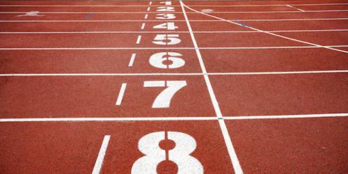 Photo d'une piste d'athlétisme