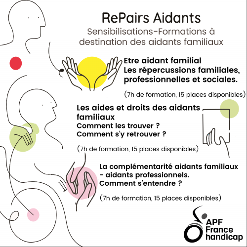 APF France handicap organise 3 sessions de formation-sensibilisation à destination des aidants en Seine-Saint-Denis