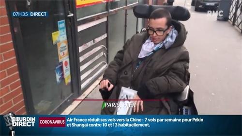 Alexandre, bénévole pur l'annuaire des lieux de soins accessibles sur BFM TV.