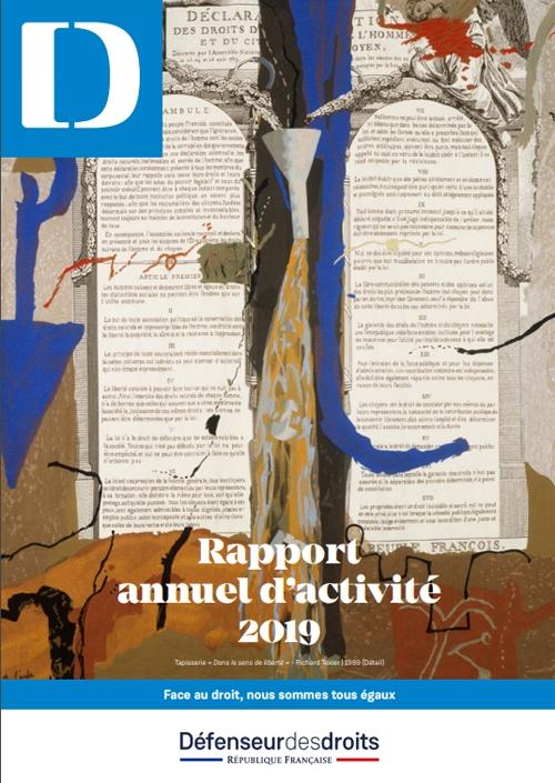 Couverture du rapport d'activité 2019 du Défenseur des droits.