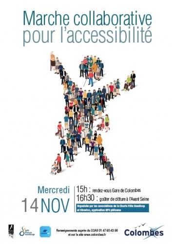 Affiche de la marche collaborative pour l'accessibilité