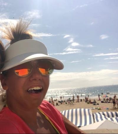 Sofia à la plage