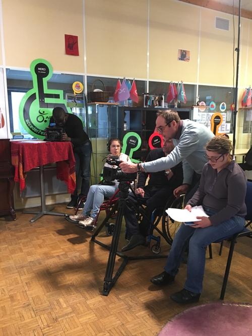 L'équipe de l'ESAT APF France handicap des Bellevues en action