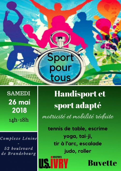 Affiche de Sport pour tous à Ivry
