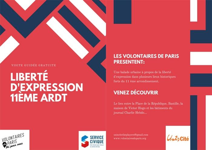 """Visuel de balade urbaine """"Liberté d'expression"""" dans le 11ème arrondissement"""