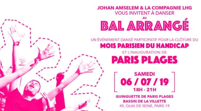 Bal arrangé samedi 6 juillet à la Guinguette de Paris plage, Bassin de la Villette à partir du 18h