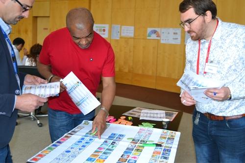 Atelier de sensibilisation aux handicaps cognitifs au siège d'Eutelsat