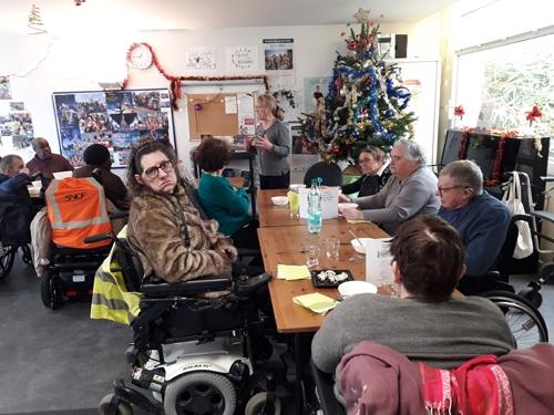 Photo du du repas du Groupe amitié partage et solidarité le 9 décembre