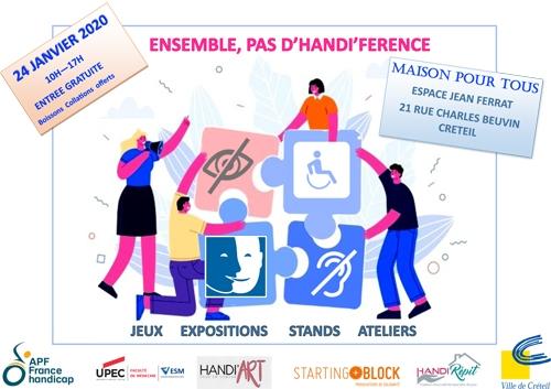 Ensemble, pas d'handi'férence - vendredi 24 janvier 2020 - Espace Jean Ferrat à Créteil