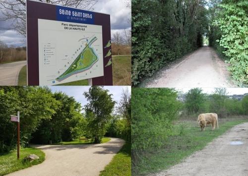 Balades urbaines à vélo accessibles autour du parc départemental Haute-Ile à Neuilly-sur-Marne