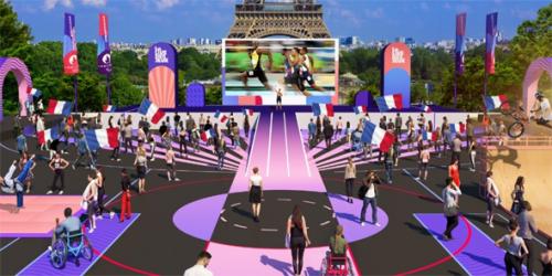 Retransmission des jeux paralympiques de Tokyo au Trocadéro