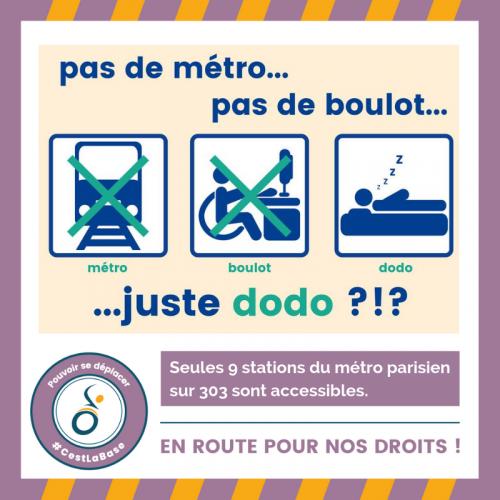 Pas de métro, pas de boulot : Juste dodo ?!