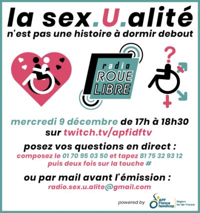 La sex.U.alité n'est pas une histoire à dormir debout - mercredi 9 décembre de 17h à 18h30 sur twitch.tv/apfidftv