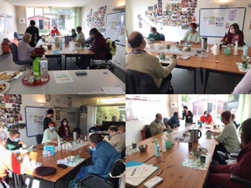 Montage photo de l'atelier bien-être à la délégation du Val-de-Marne