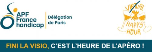 Fini la visio, c'est l'heure de l'apéro à la délégation APF France handicap de Paris !