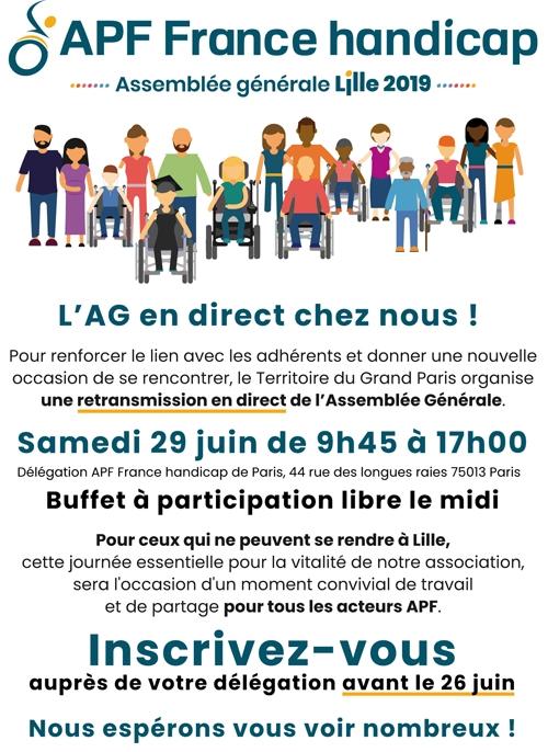 L'AG en direct chez nous ! Samedi 29 juin de 9h45 à 17h00 à la délégation de Paris.