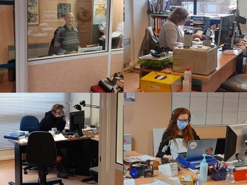 Photo des salariés du territoire dans les bureaux de la délégation de Paris