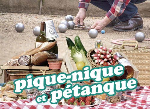 Illustration pique-nique & pétanque