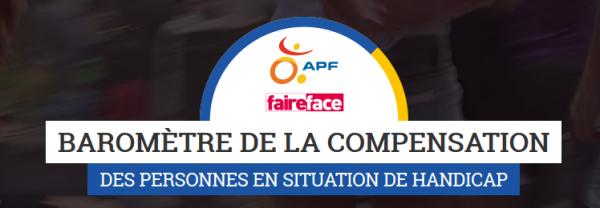 Logo du baromètre de la compensation APF France handicap
