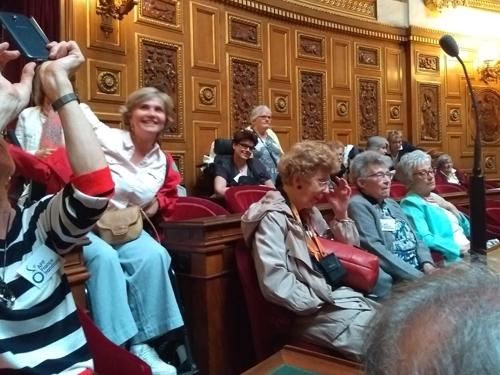 Dans l'hémicycle du Sénat avec le Cercle Culturel