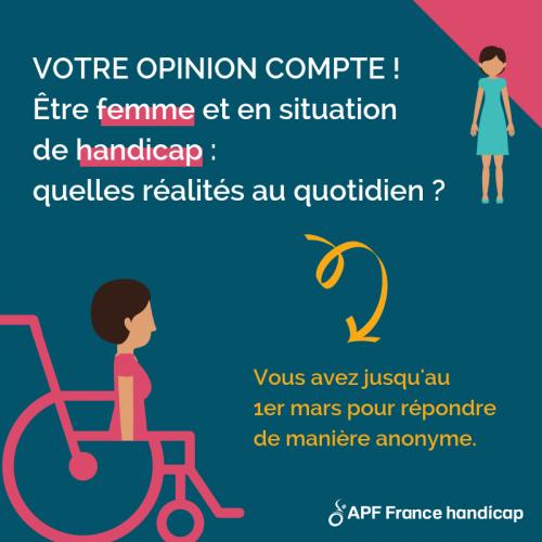 Votre opinion compte : Être une femme en situation de handicap, quelles réalités au quotidien ?