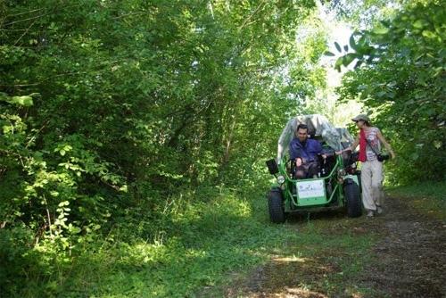 photo d'une promenade en quad adapté au parc naturel du Vexin.
