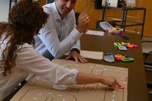 Atelier de sensibilisation guidage visuel au siège d'Eutelsat