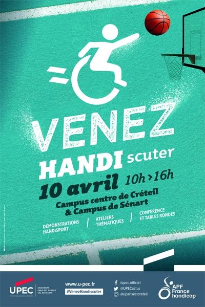 Venez HANDIscuter le 10 avril de 10h à 16h sur le campus centre de Créteil et de Sénart