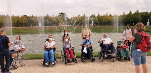 Le groupe Evasion du Val de Marne à Versailles.
