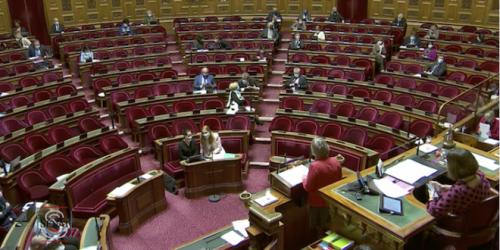 L'hémicycle du Sénat le 9 mars 2021