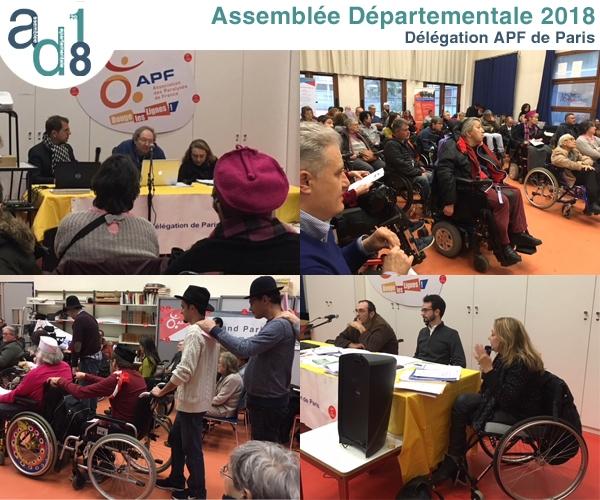 Montage photo récapitulatif de l'Assemblée Départementale de la Délégation de Paris ayant eut lieu le 17 mars 2018