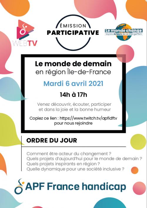 Mardi 6 arvil : Le Monde de Demain sur Twitch !
