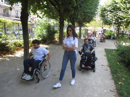 Parcours fauteuil de sensibilisation au handicap moteur