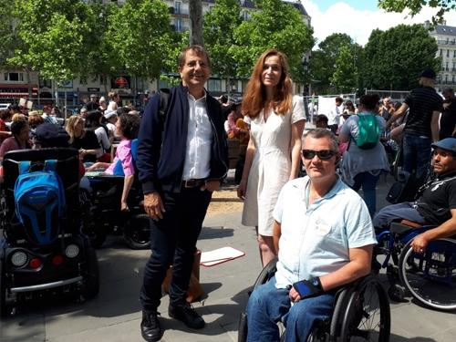 Patrick Lafon (Directeur du Grand Paris), Roseline Sarkissian (Conseillère régionale Ile-de-France) et Franck Maille (représentant CAPFD 92)