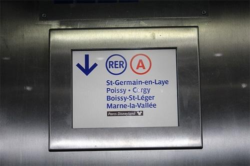 Logo du RER A - St Germain en Laye - Poissy - Cergy - Boissy St Léger - Marne la Vallée