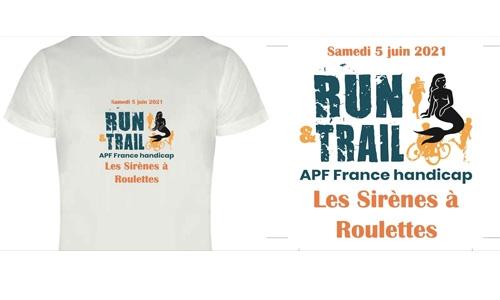 """Le tshirt avec le logo """"Les Sirènes à roulettes"""""""