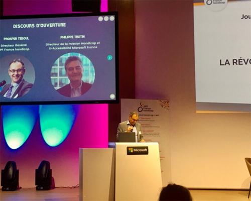 Prosper Teboul Directeur Général d'APF France handicap au siège de Microsoft