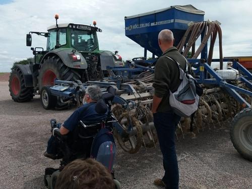 Marc en visite à la ferme