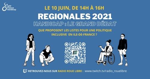 Elections régionales : Le grand débat - jeudi 10 juin de 14h à 16h en direct sur twitch.tv/radio_rouelibre