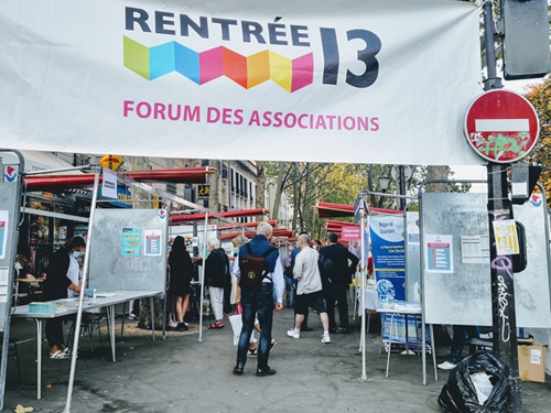 Entrée du forum des associations du 13eme