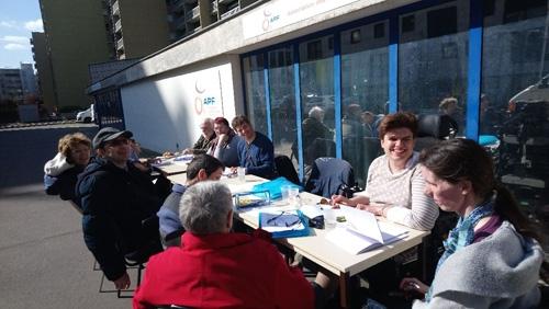 Photo de l'atelier d'écriture à la délégation APF France handicap de Paris