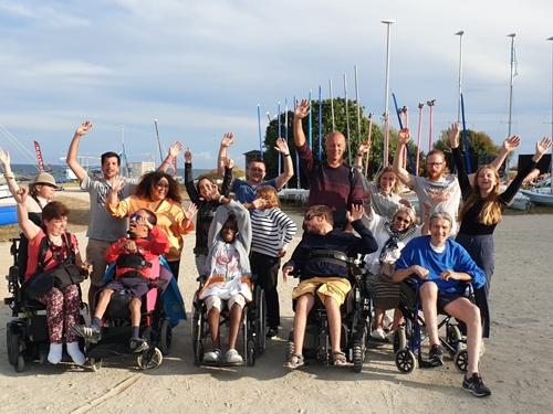 photo de groupe du séjour à Larmor Plage