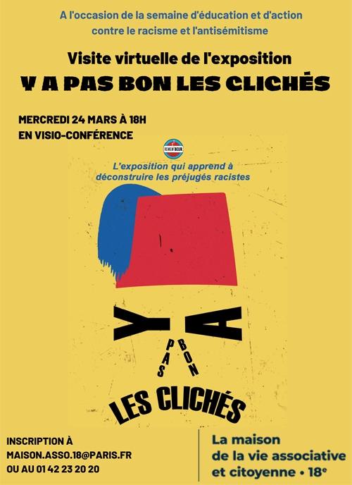 """Visuel de l'exposition """" Y a pas bon les clichés"""" - Visite virtuelle le mercredi 24/03"""