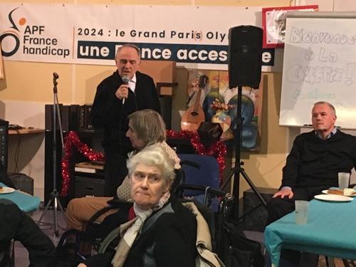 Jacques Gonzales à la galette de la délégation de Paris.
