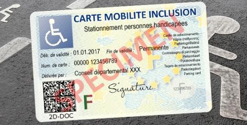 Photo d'une Carte Mobilité Inclusion mention Stationnement (CMI-S)