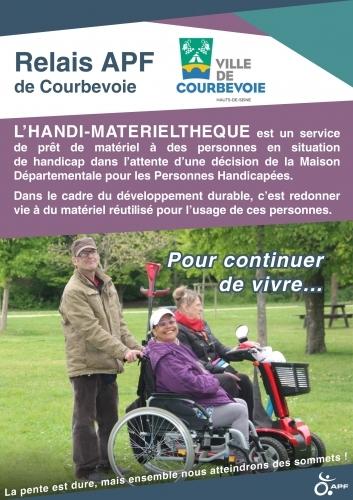 Affiche de l'Handi-matérieltheque à Courbevoie
