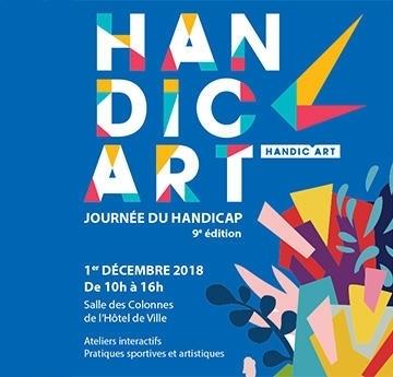 Affiche d'Handic'art le 1er décembre à Puteaux