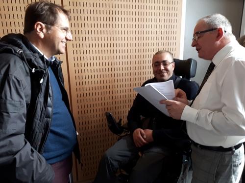 M. Lafon, M. Martin et M. Djellel à conférence de presse