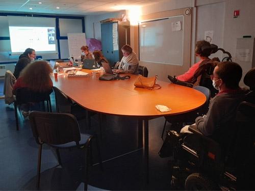 Photo de salariés et bénévoles au groupe Sensibilisation