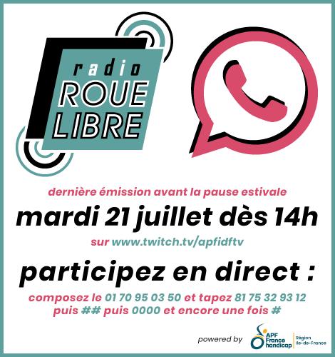 Radio Roue Libre - 21 juillet dès 14h - dernière émission avant les vacances !
